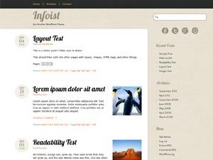 Infoist WordPress blog theme