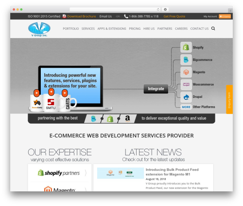 Interface best free WordPress theme - webstore.vgroup.net