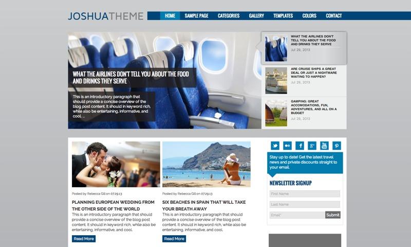 Joshua wallpapers WordPress theme