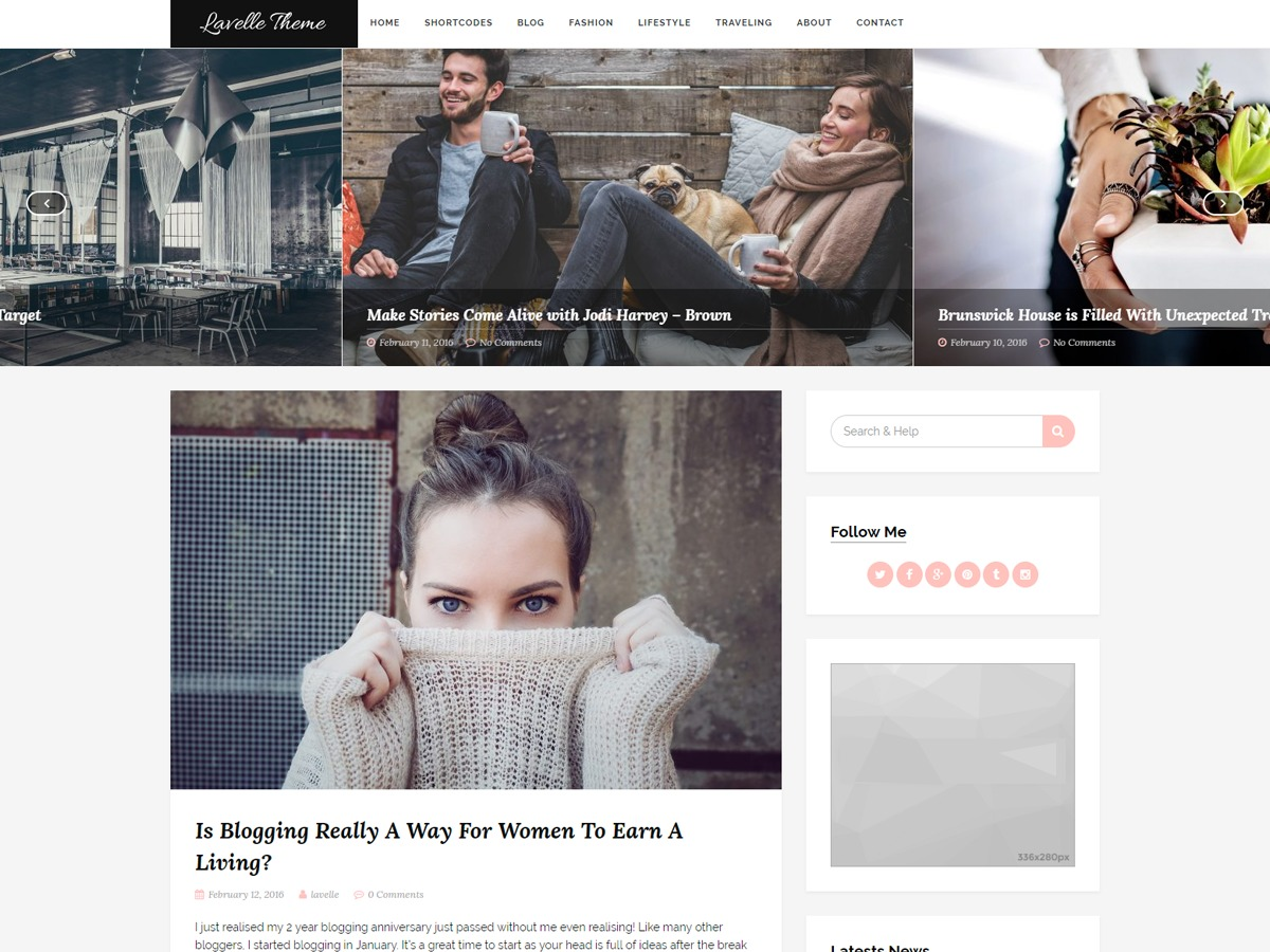 Lavelle WordPress blog theme