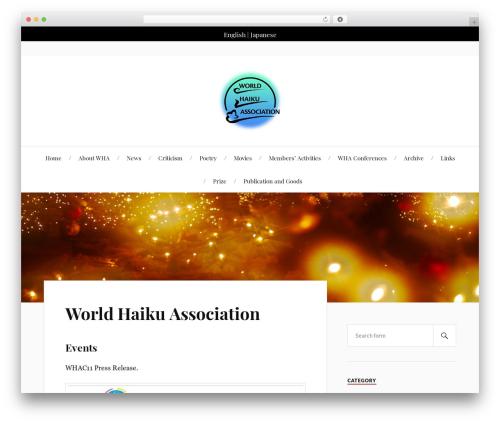 Lovecraft free WP theme - worldhaiku.net