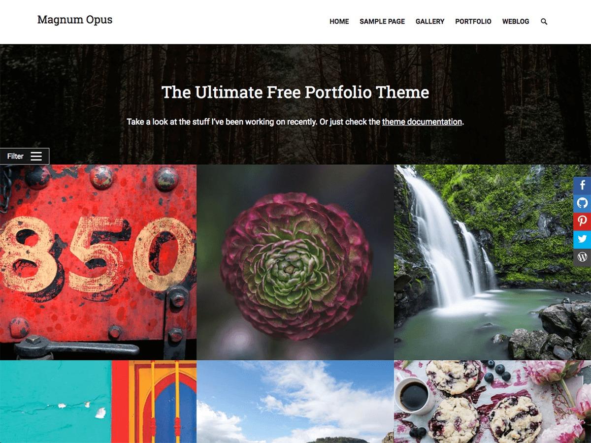 Magnum Opus best free WordPress theme