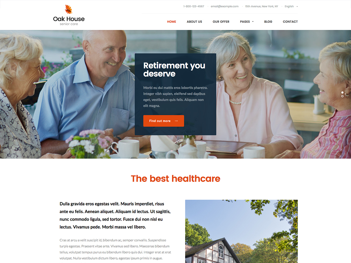 Martanian - Oak House WordPress template