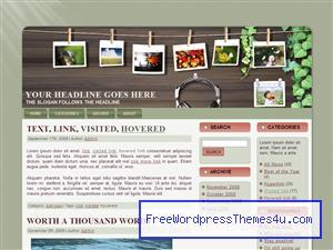 pictures on a clothesline eve006 WordPress website template