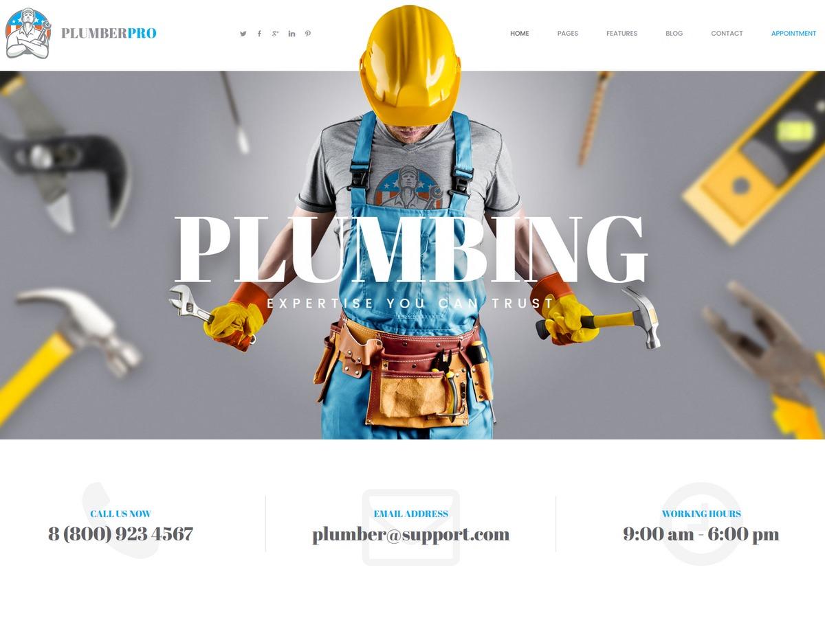 plumber WP template
