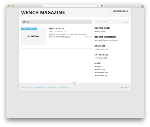 Point free WordPress theme - wenchmagazine.com
