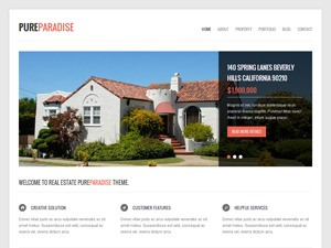 PureParadise business WordPress theme