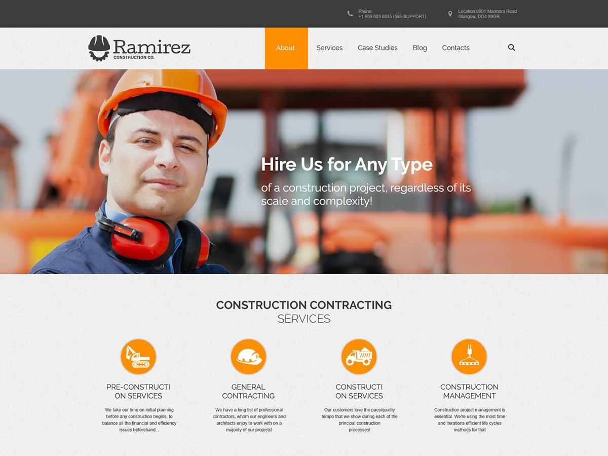 Ramirez company WordPress theme