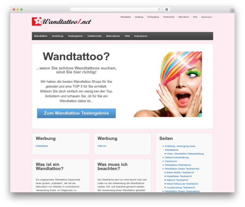 Responsive template WordPress - wandtattoo1.net