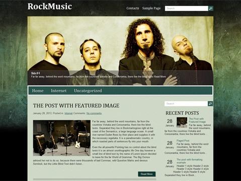 RockMusic WordPress theme design