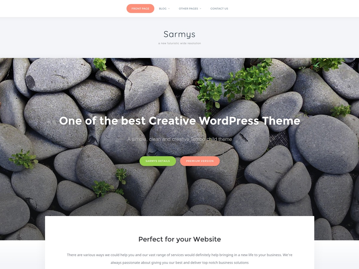 Sarmys food WordPress theme