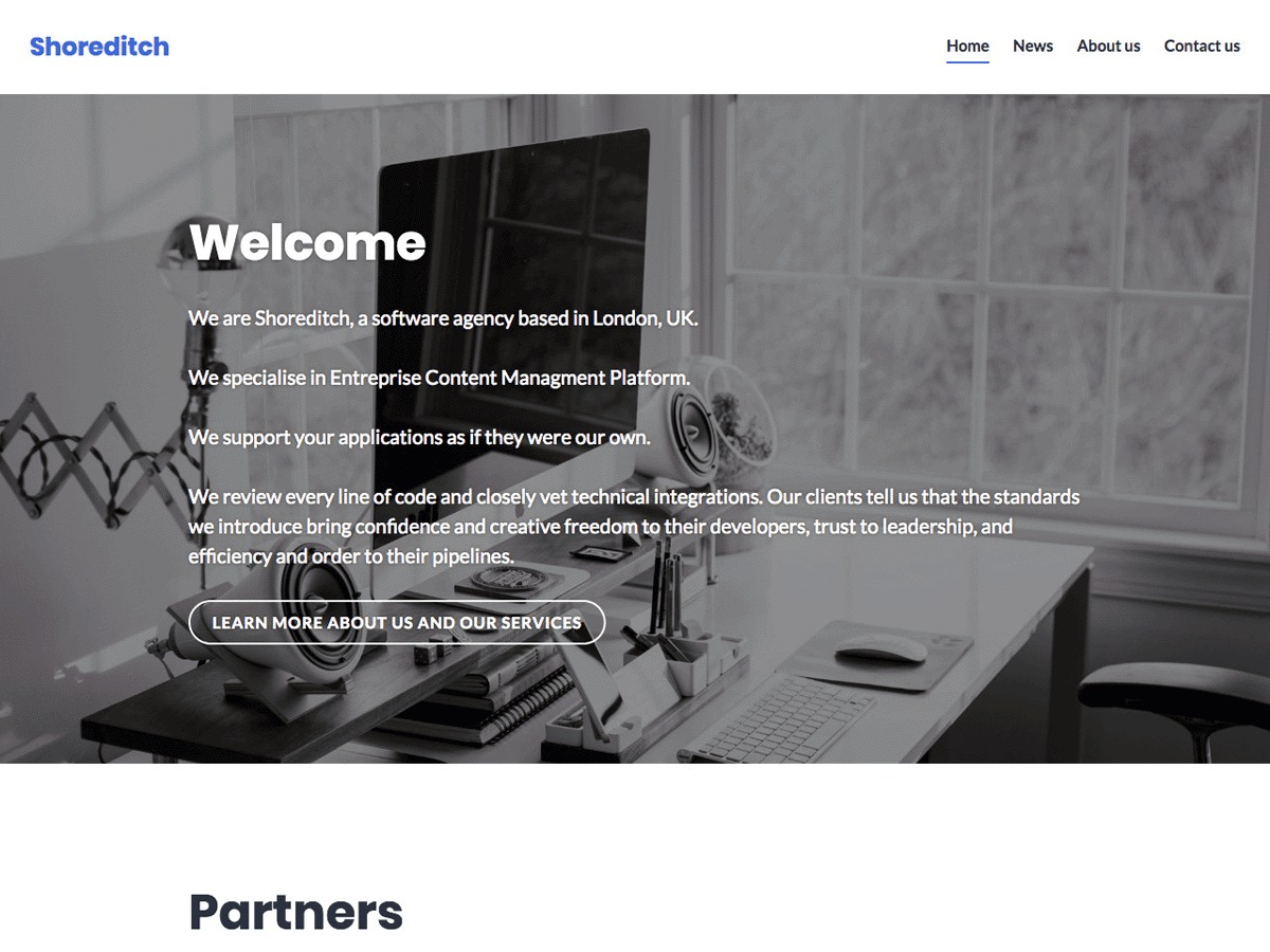 Shoreditch WordPress blog template
