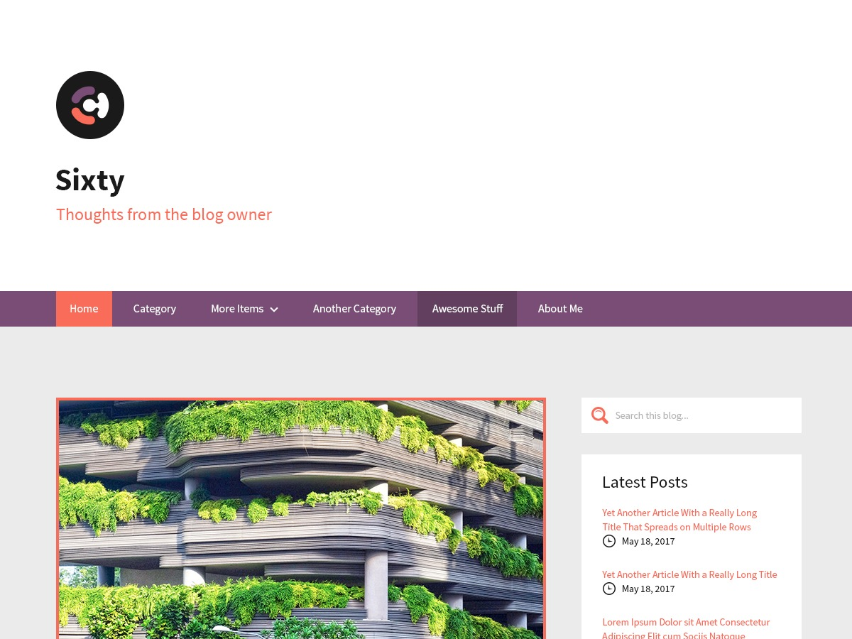 Sixty template WordPress free