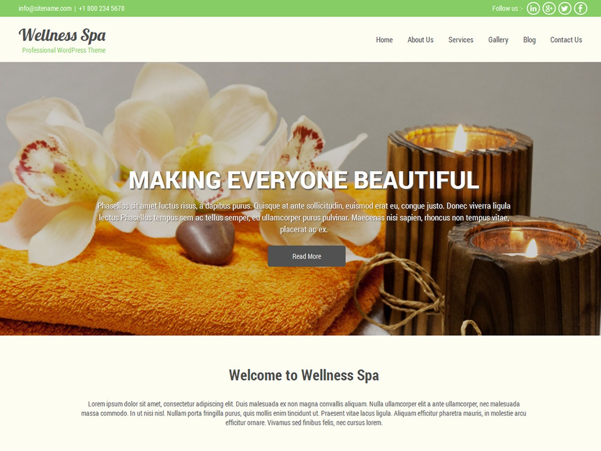 SKT Spa theme free download