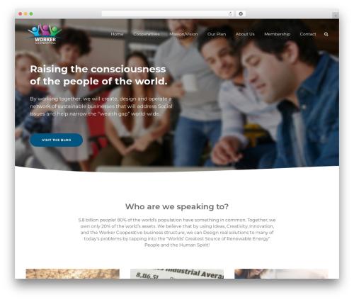 SmallBusiness CD business WordPress theme - worker-cooperatives.com