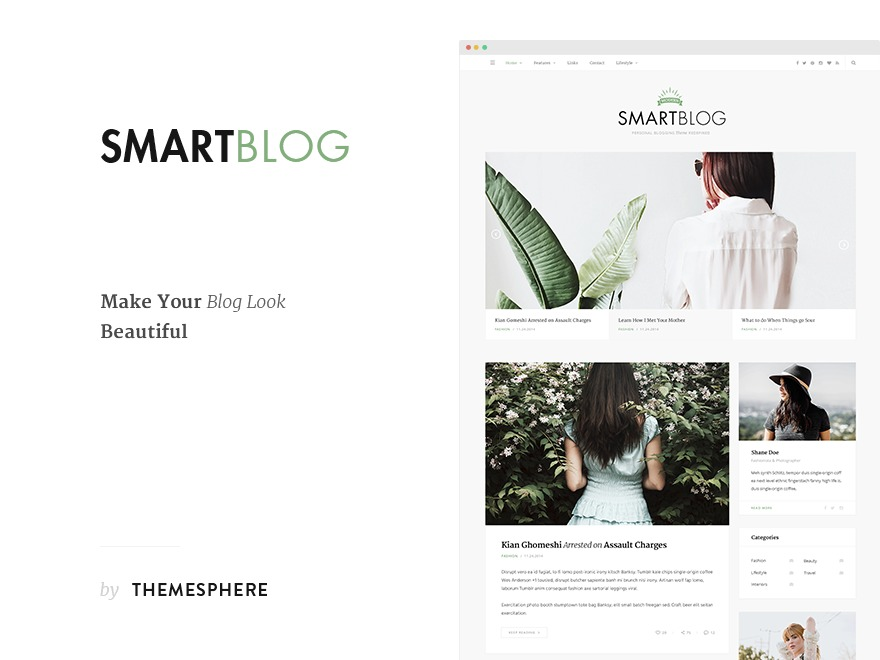 Smart Blog WordPress blog template