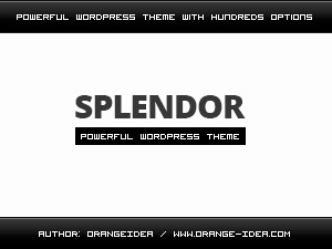 Splendor WordPress theme download