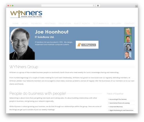 Template WordPress Avada - wynners.co.nz