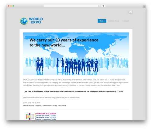 Tetris WordPress website template - worldexpo.ca