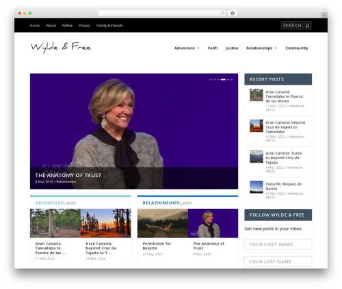 Theme WordPress Extra - wyldeandfree.com