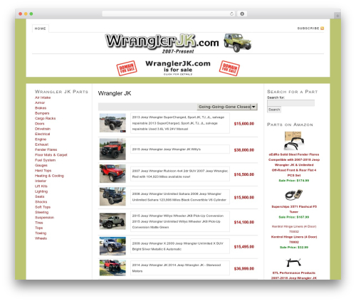 Thesis WP theme - wranglerjk.com