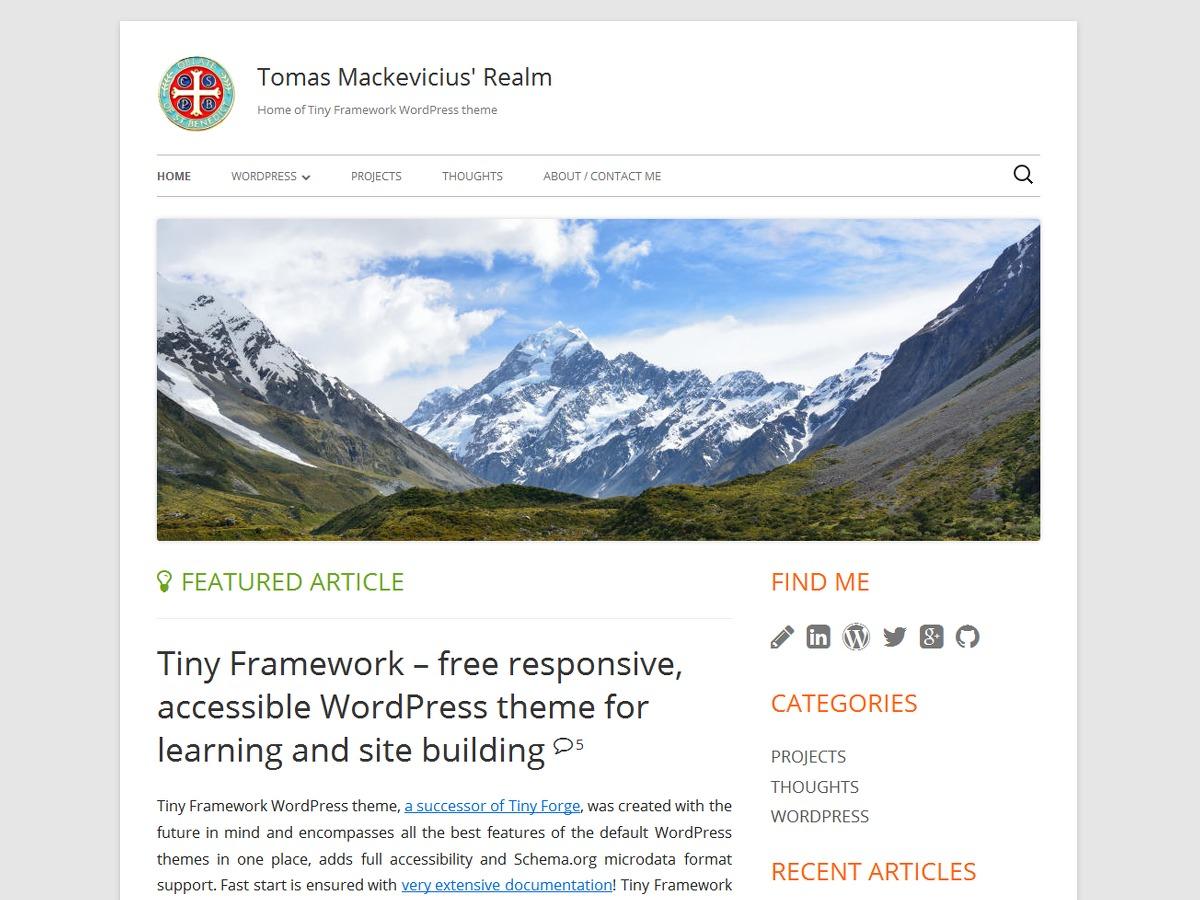 Tiny Framework Child Example best WordPress theme