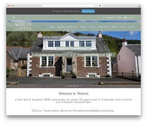 Free WordPress TablePress plugin - westcotguesthouse.co.uk
