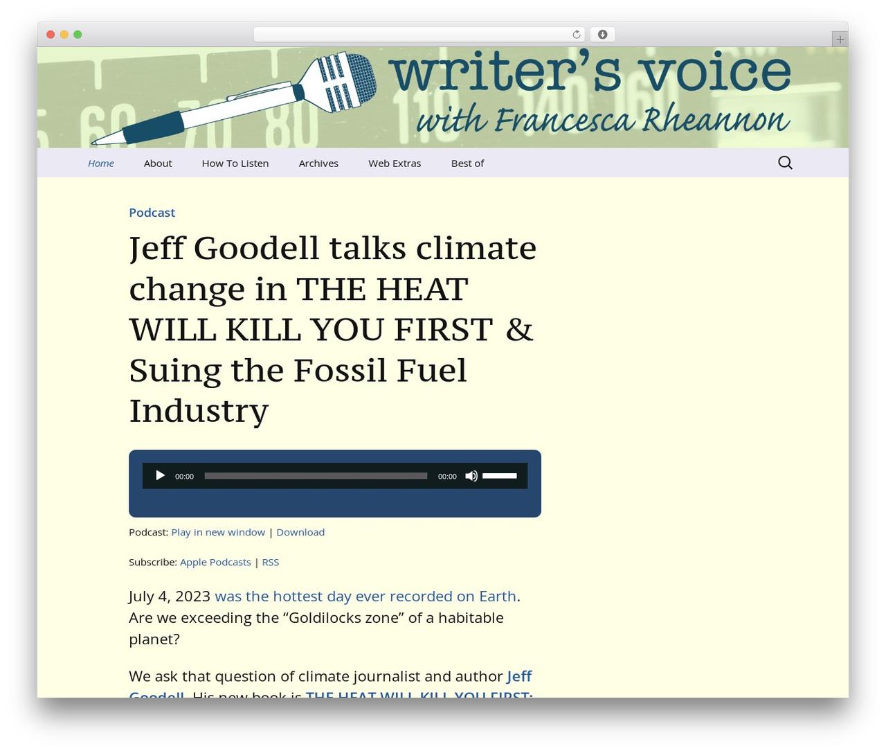 Twenty Thirteen WordPress template free - writersvoice.net