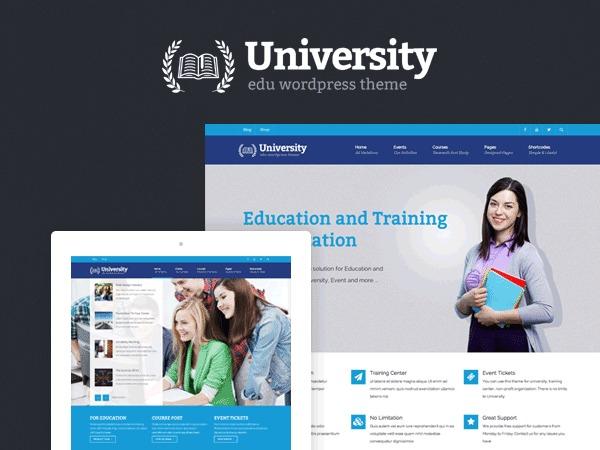 University Child template WordPress