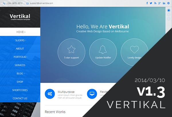 Vertikal (shared on wplocker.com) business WordPress theme