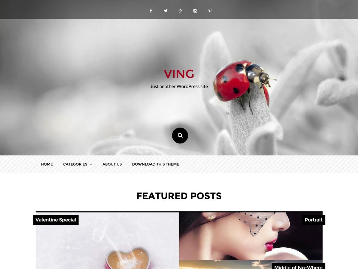 Ving WordPress template free download