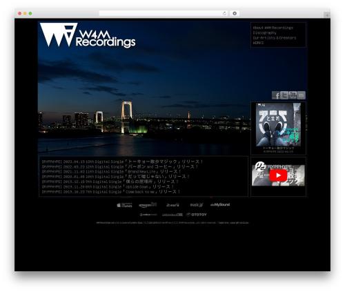 Free WordPress WPaudio MP3 Player plugin - w4m-recordings.com
