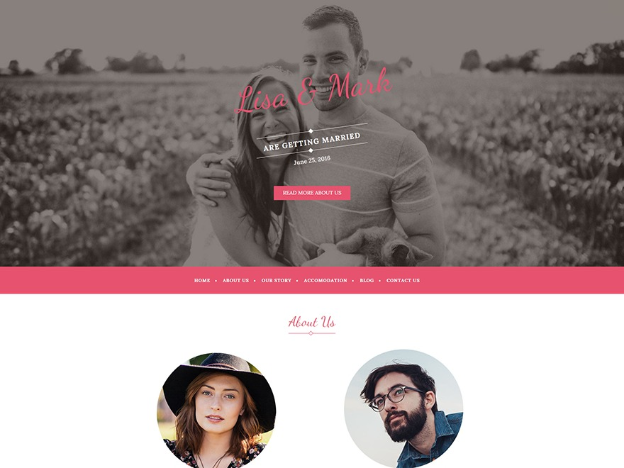 Wedding Bride theme WordPress free