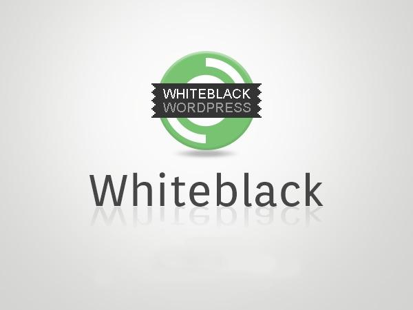 Whiteblack personal blog WordPress theme