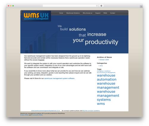 WordPress Default WordPress theme - warehousemanagementsystemsuk.co.uk