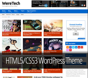 WordPress template Weretech