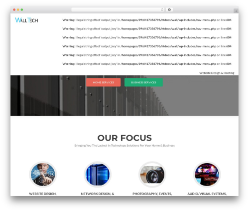 WordPress template Zerif PRO - walltech.org