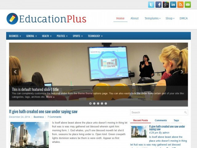 WordPress theme EducationPlus