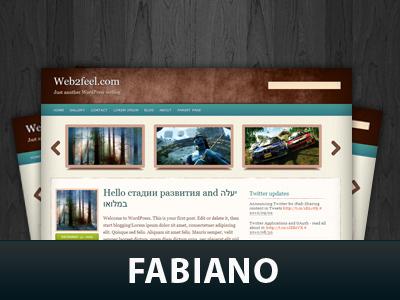 WordPress theme Fabiano
