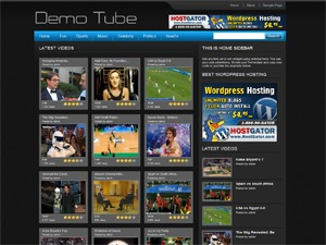 WordPress theme Free WP Tube 4