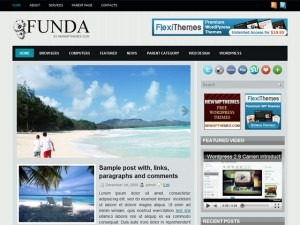 WordPress theme Funda