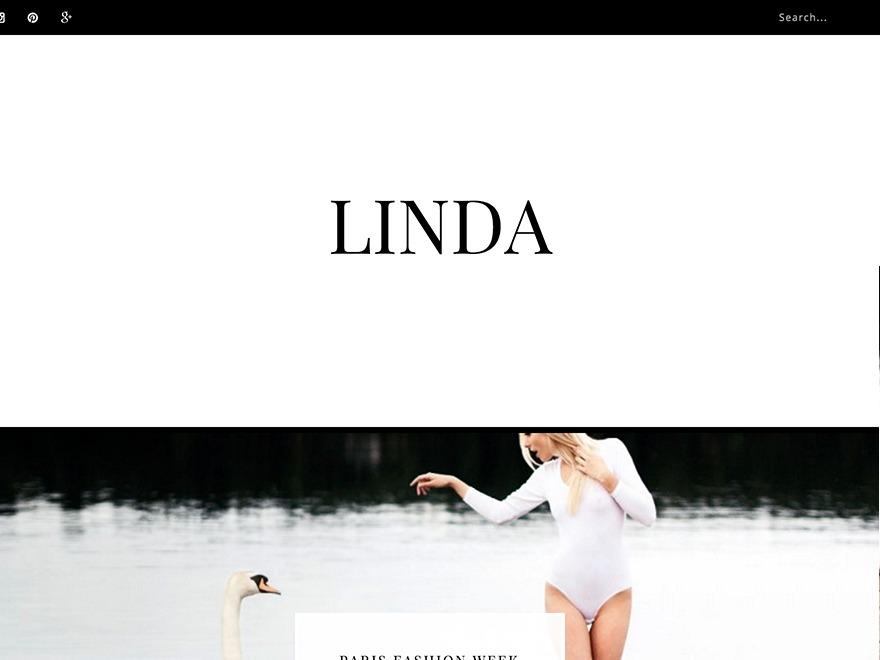 WordPress theme Linda