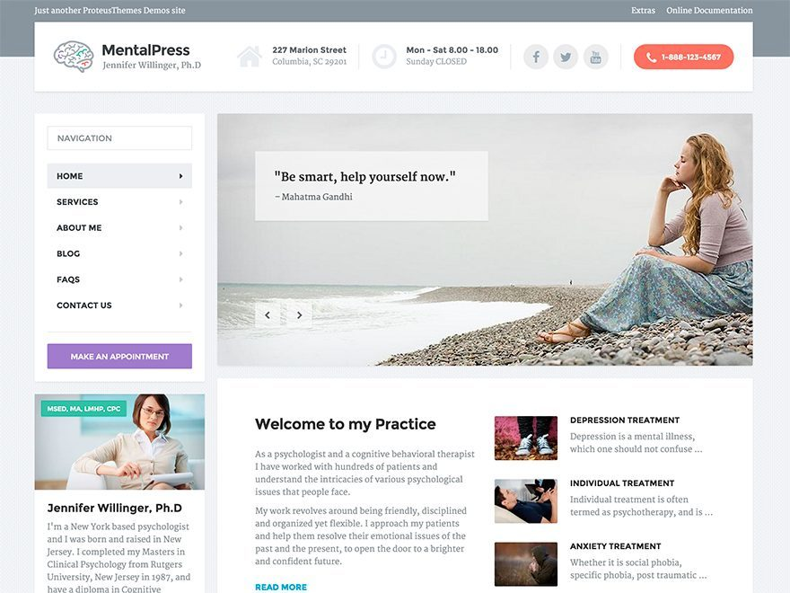 WordPress theme MentalPress WP Theme