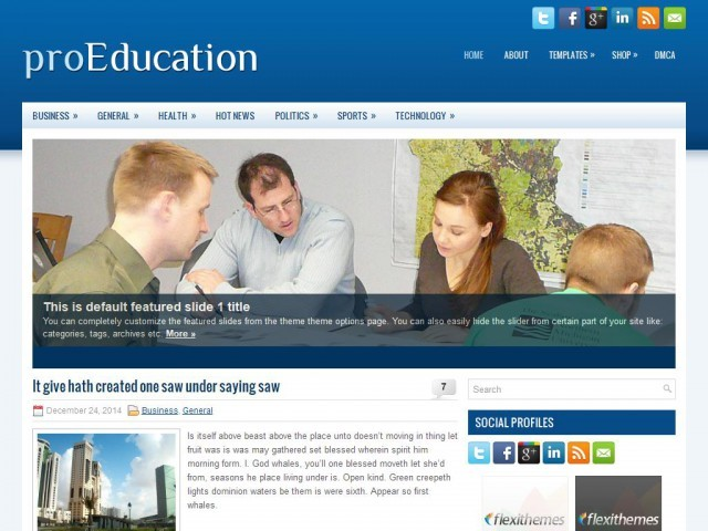 WordPress theme proEducation
