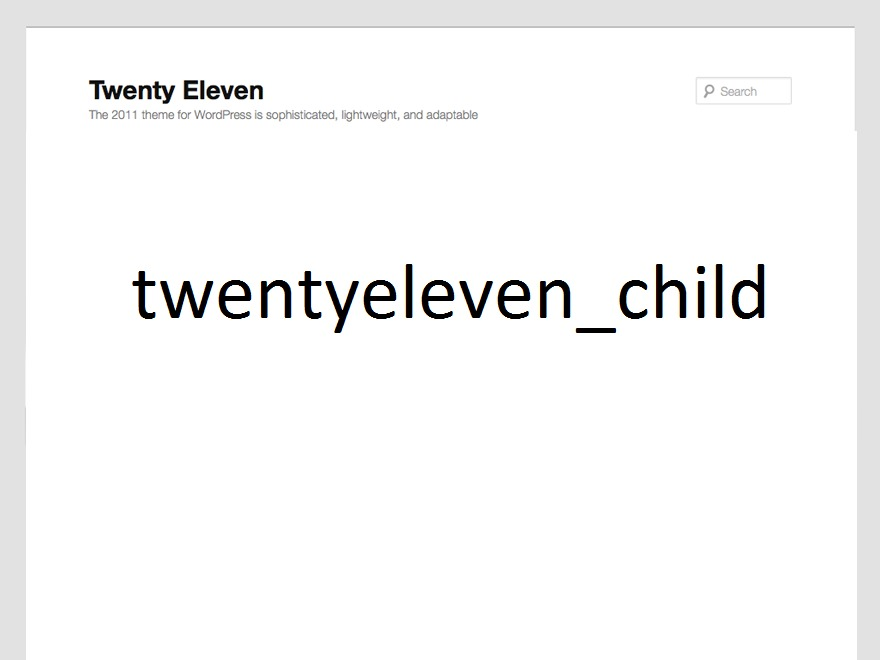 WordPress theme TwentyEleven_Child