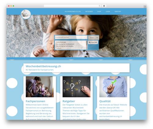 WordPress theme Typal2woo - wochenbettbetreuung.ch