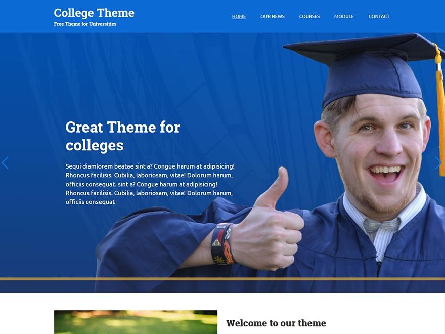 WordPress website template College