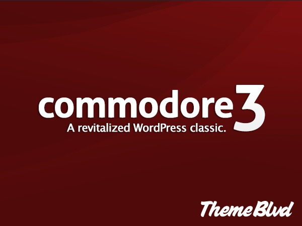 WordPress website template Commodore Child Theme