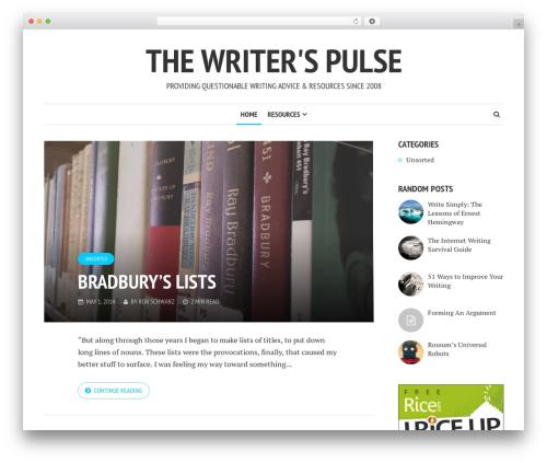 WP template Shamrock - writerspulse.org