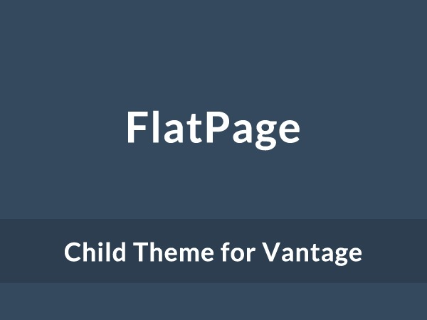 WP theme FlatPage